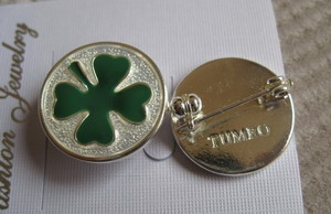 Alloy Four Leaf Clover lucky brooch