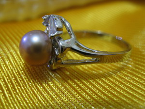 100% natural pearl finger ring top grade OEM
