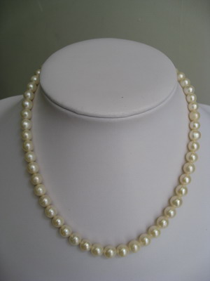 100% natural pearl necklace top grade OEM