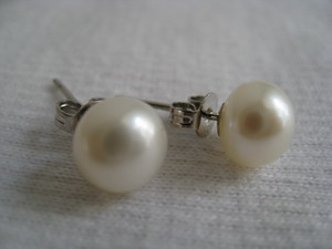 100% natural pearl ear stud nail top grade OEM