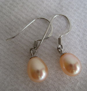 100% natural pearl earring top grade OEM